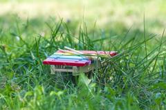 backgrounds grass close up tools marimba xylophone bars knockers HD