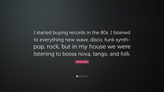 Steven Sater Quote I started buying records in the 80s I listened
