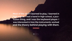 Brian McKnight Quote Most of the stuff I learned to play I