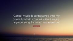 Johnny Cash Quote Gospel music is so ingrained into my bones I
