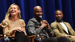Jamie Foxx All Smiles at Just Mercy Premiere After Katie