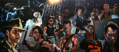 movies Caricature Terminator Indiana Jones Die Hard Back To