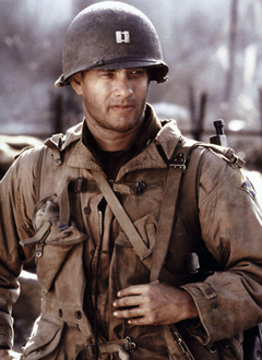 Tom Hanks in Saving Private Ryan Almost everything this man stars
