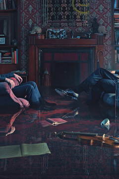 Benedict Cumberbatch and Martin man Sherlock Holmes Room