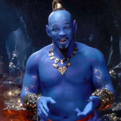 Aladdin s Grammys trailer finally reveals Will Smith s very blue