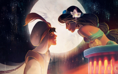 Jasmine Aladdin Arabian Nights Love Cartoon HD Backgrounds Wallpapers