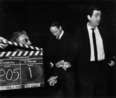 Peter Sellers and director Stanley Kubrick right with a