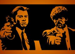 Pulp Fiction Samuel L Jackson John Travolta Hd Wallpapers