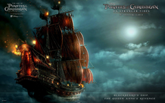 Blackbeard Ship in Pirates Of The Caribbean 4 Wallpapers