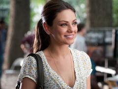 brunettes women Mila Kunis actress celebrity smiling