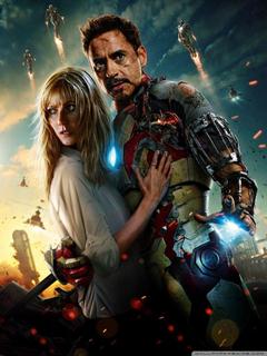 Iron Man 3 Tony Stark And Pepper Potts HD desktop wallpapers