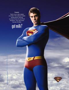 dc comics superman milk superman returns got milk brandon routh