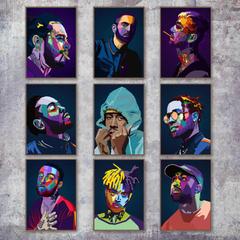 Lil Peep Tyler XXXTentacion Rapper Star Wall Art Canvas Painting