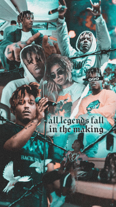 This is a wallpapers I made for juice wrld on the day he died I