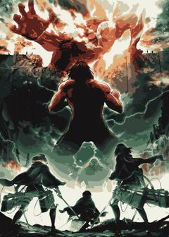 mikasa attack on titan Metal Poster Print
