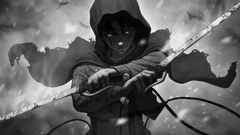 Attack On Titan Levi Ackerman With Swords Face Full Of Covered With Black Cloth HD Anime Wallpapers
