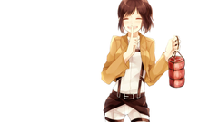simple background white background Shingeki no Kyojin Sasha Blouse Wallpapers