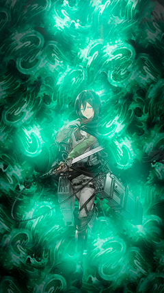 I made Mikasa Wallpapers for mobile ShingekiNoKyojin