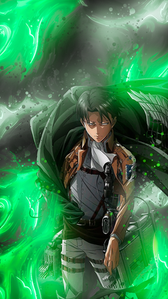 I made Levi Wallpapers for mobile ShingekiNoKyojin