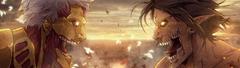 Armored Titan vs Attack Titan Attack on Titan 4K Wallpapers