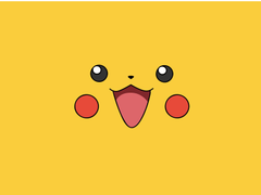 Pokemon video games yellow pikachu faces simple wallpapers