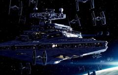 Wallpapers Star Wars Art Star Destroyer TIE fighters Imperial