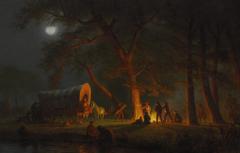 Wallpapers people picture wagon bed genre Albert Bierstadt