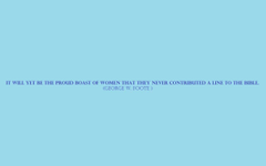 The Proud Boast Of Women