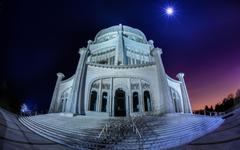 Bahá í House of Worship Wilmette Illinois USA widescreen