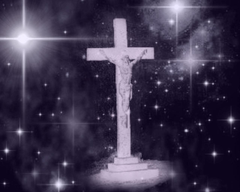 Crucifix With Starry Backgrounds Backgrounds