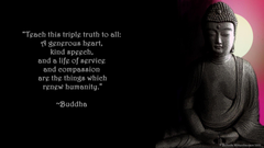 WALLPAPER AND QUOTE ON WHAT MATTERS BY BUDDHA