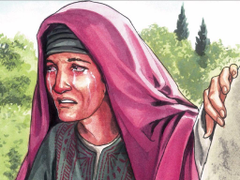 Bibleimage Jesus appears to Mary Magdalene and sends her to