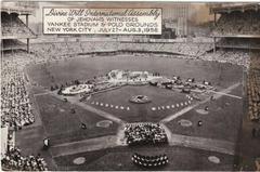 Jehovah witnesses image 1958 District Convention At Yankee Stadium