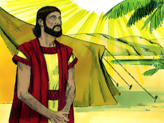 Bibleimage Abraham is called by God to move to the land of