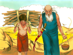 Bibleimage The miraculous birth of Isaac to Abraham and