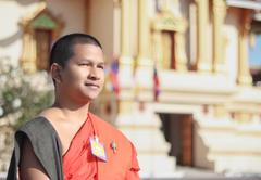 stock photo of laos people sangha