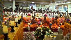 Chanting to Buddha Dhamma Sangha