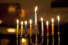 Hanukkah Menorah Candles wallpapers