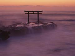 Torii Gate Oarai Coast Ibaraki Kanto Japan Wallpapers
