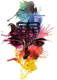 Shiva trishul with third eye abstract