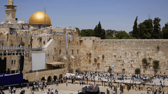 Western Wall or Wailing Wall or Kotel in Jerusalem timelapse Plenty
