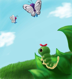 Caterpie and Butter