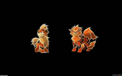 Growlithe and arcanine wallpapers