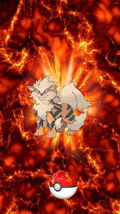 Fire Pokeball Arcanine Windie Growlithe