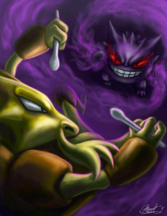 Alakazam v Gengar by MarceloDisco