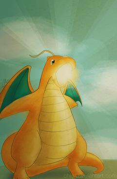 Dragonite s Hyper Beam by chiipi