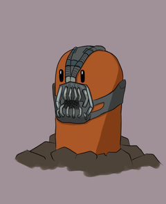 Diglett with Bane mask by bubblesx99