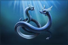 Dratini and Dragonair by Mijeman