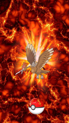 Fire Pokeball Fearow Onidrill Spearow