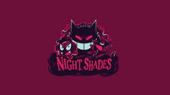 Pokemon minimalistic night gengar haunter gastly shades wallpapers